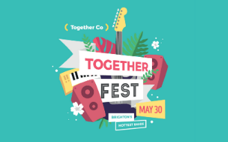TogetherFest 2020 is now live! Stream our virtual music festival here and help end loneliness in Brighton & Hove
